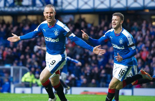 Kenny Miller celebrates putting Rangers ahead, courtesy of the Daily Record